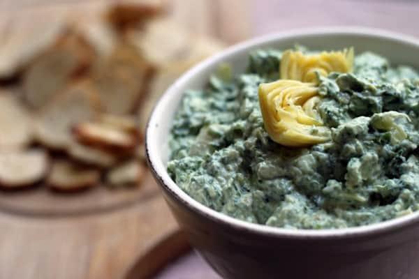 Spinach goatichoke dip09