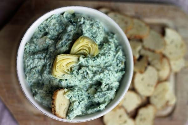 Spinach goatichoke dip11
