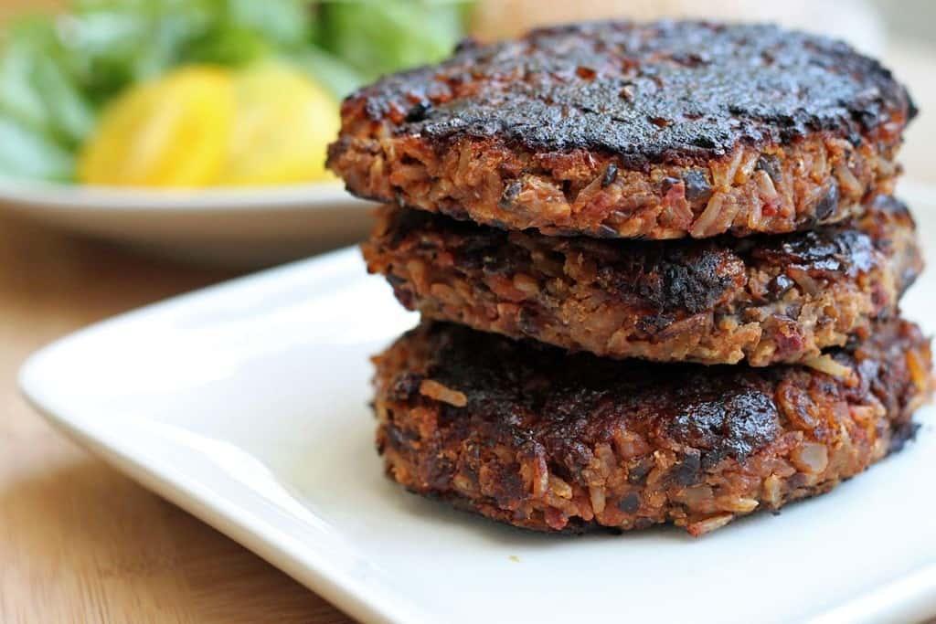 bbq black bean & brown rice burgers3