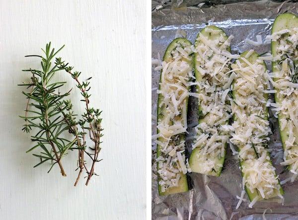 Zucchini herbs