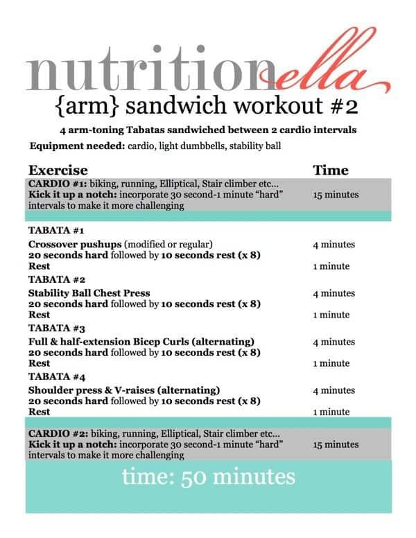 Arm sandwich workout  2
