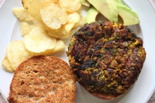 Broccoli stalk  red bean burgers1
