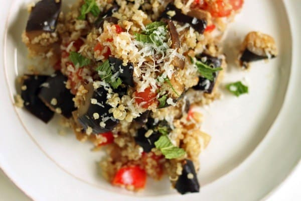 Roasted eggplant quinoa salad4