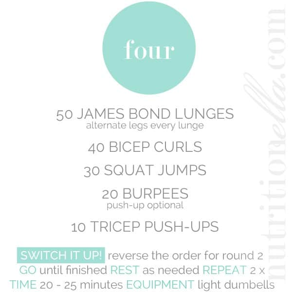 Nutritionella workout of the week 4